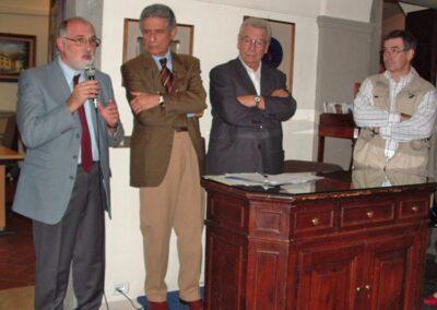 Prende la parola il professore Ivano Sonzogni, coordinatore della mostra - Foto Piero Gritti www.pieroweb.com