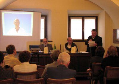 Il ragioniere Ruch del Museo della Valle presenta Matteo Ghisalberti - foto Pietro Gritti - www.pieroweb.com