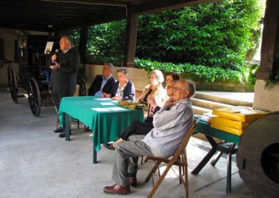 Il Rag. Ruch del Museo della Valle introduce il XXV Concorso disegni - foto Pietro Gritti - www.museo della Valle - www.pieroweb.com