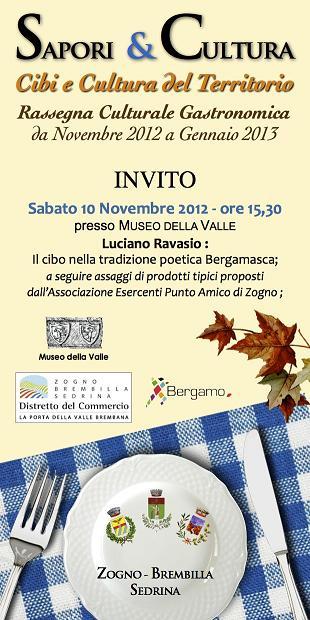 Sapori & Cultura INVITO Comune 10 11 12