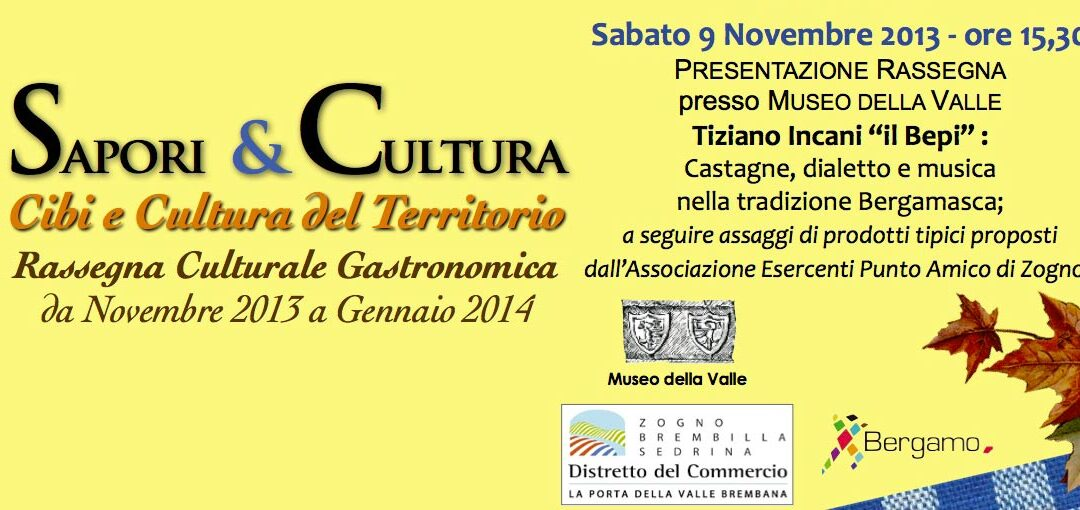 Sapori & Cultura 2013 - TIZIANO INCANI