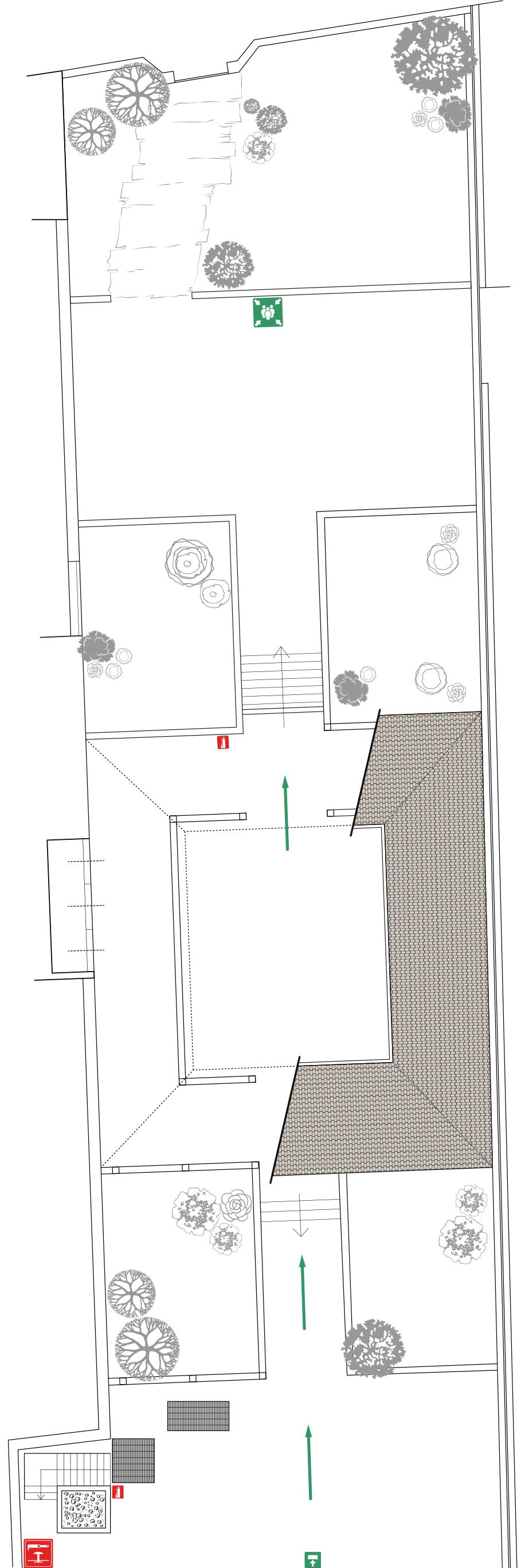 MUSEO DELLA VALLE Fondazione Polli-Stoppani - Zogno (Bergamo) - Planimetria Giardino e Porticato