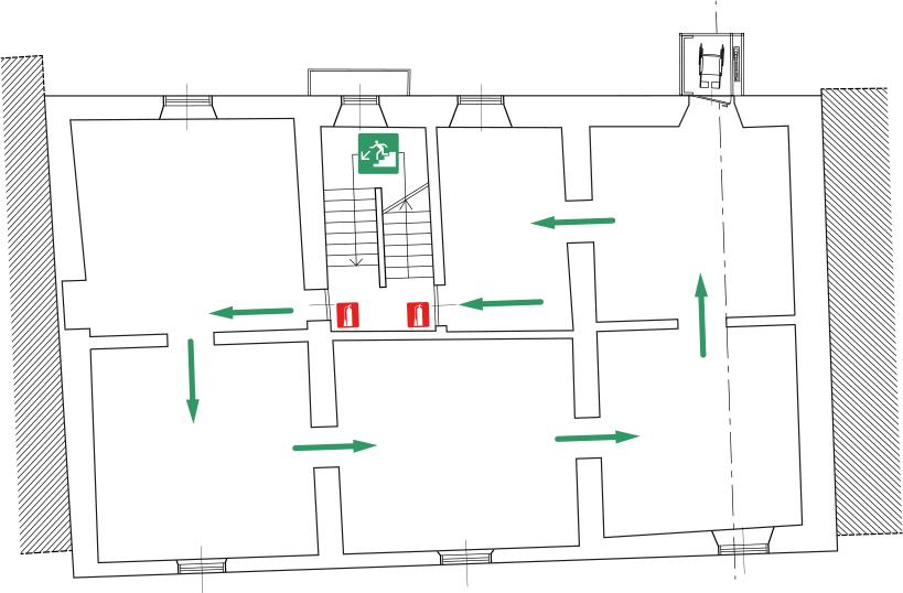 MUSEO DELLA VALLE Fondazione Polli-Stoppani - Zogno (Bergamo) - Planimetria Piano Primo