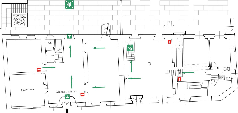 MUSEO DELLA VALLE Fondazione Polli-Stoppani - Zogno (Bergamo) - Planimetria Piano Terreno
