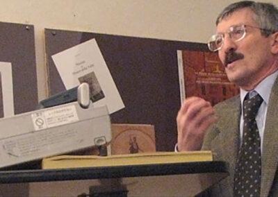 L'ingegnere Giuseppe Presenti durante la conferenza - Foto Piero Gritti www.pierogritti.com