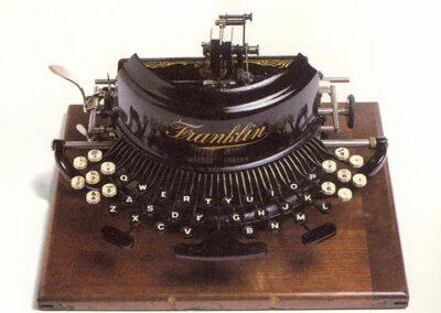 FRANKLIN modello n. 7 - U.S.A. 1891 - Nascita ed evoluzione della macchina per scrivere