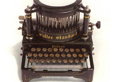 SALTER modello n. 6 - Gran Bretagna 1892 - Nascita ed evoluzione della macchina per scrivere