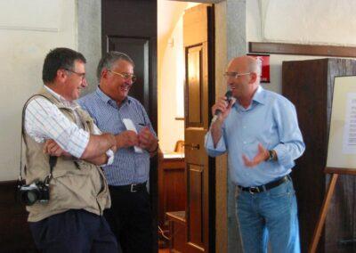 Da sinistra: Franco Prida, ragioniere Ruch, il Sindaco di Zogno