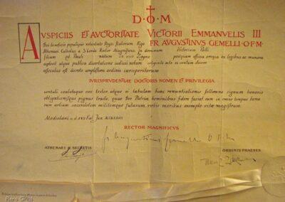 Diploma di laurea in giurisprudenza