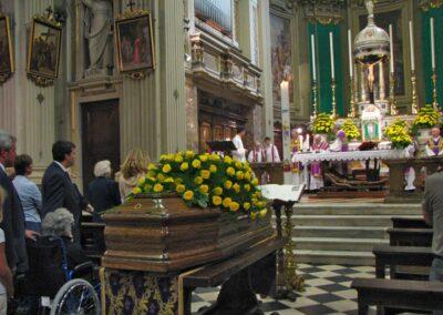 Vittorio Polli nella chiesa che tanto amava