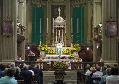 Monsignore Giulio Gabanelli commemora Vittorio Polli