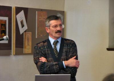 Il dottore Giuseppe Presenti, autore della ricerca su Pietro Cortinovis - foto Pietro Gritti - www.museo della Valle - www.pieroweb.com