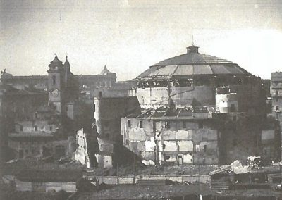 L'Augusteo in via di demolizione (Roma 1937) (Archivio Istituto Luce)