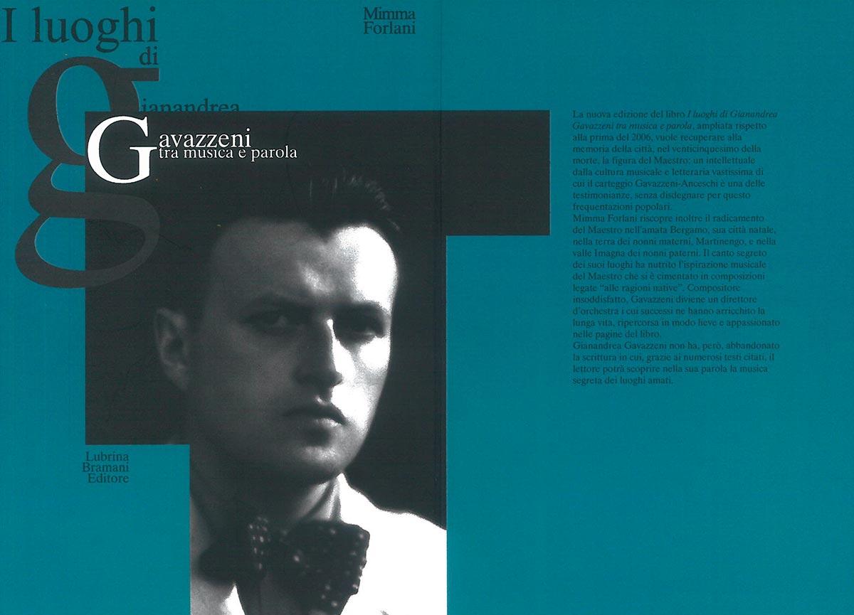 Museo della Valle - Zogno - Riedizione del libro I luoghi di Gianandrea Gavazzeni, tra musica e parola - COVER